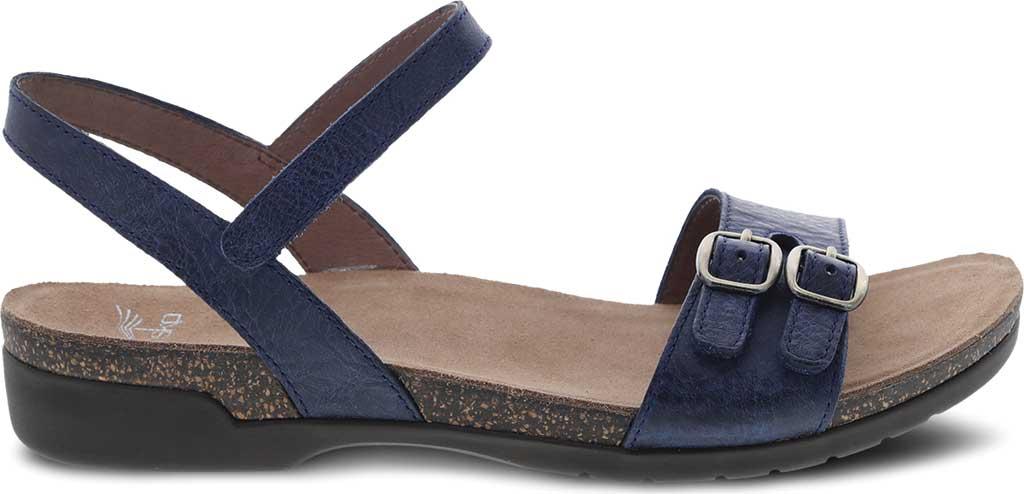 Women's Dansko Rebekah Ankle Strap Sandal, Navy Waxy Burnished Leather, large, image 2