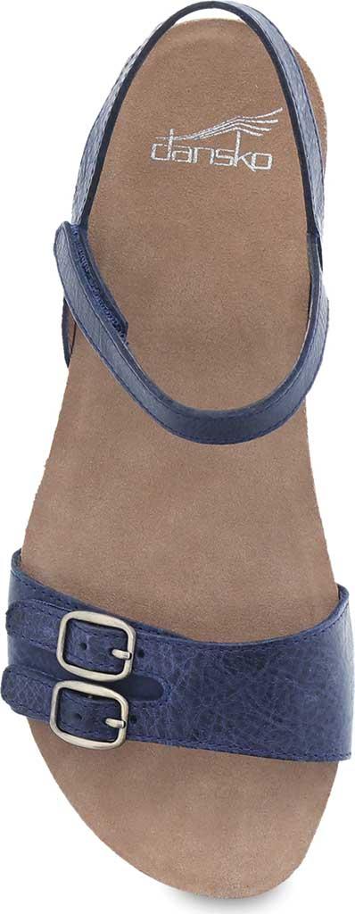 Women's Dansko Rebekah Ankle Strap Sandal, Navy Waxy Burnished Leather, large, image 3