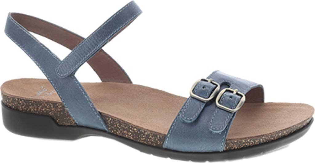 Women's Dansko Rebekah Ankle Strap Sandal, Denim Waxy Calf, large, image 1