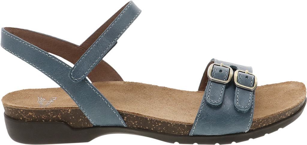 Women's Dansko Rebekah Ankle Strap Sandal, Denim Waxy Calf, large, image 2