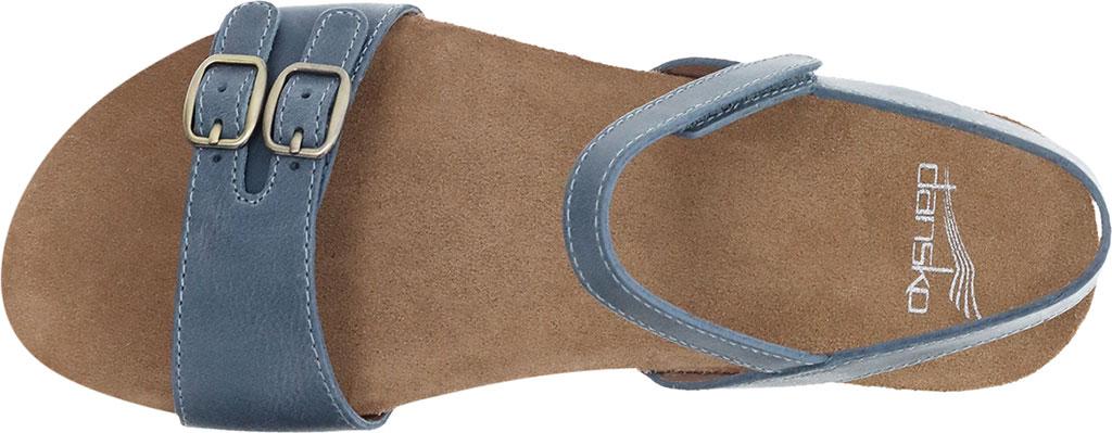 Women's Dansko Rebekah Ankle Strap Sandal, Denim Waxy Calf, large, image 3