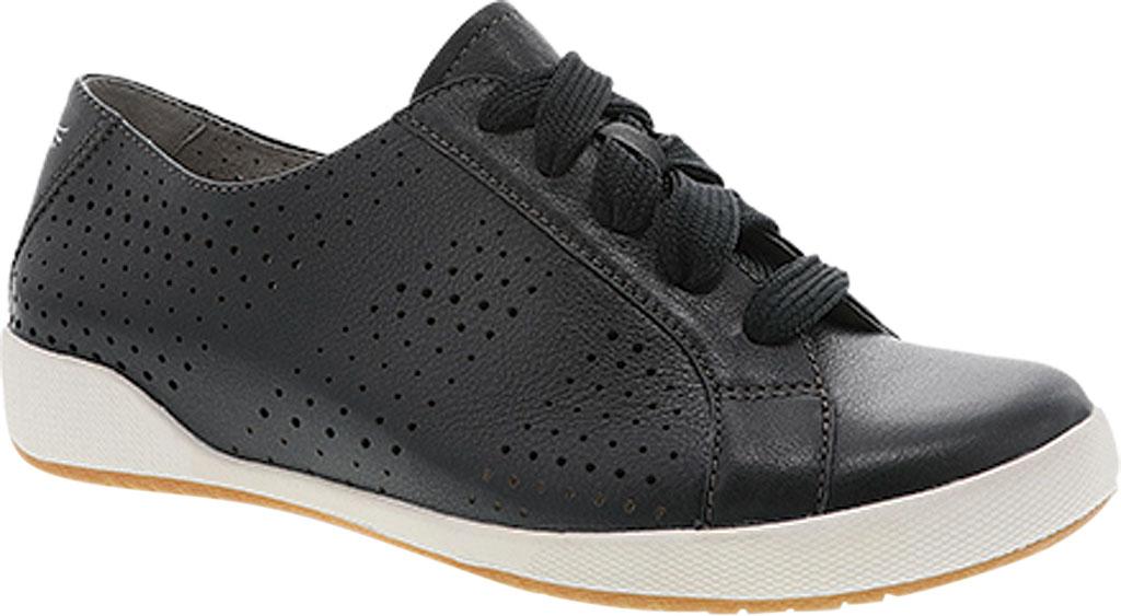 Women's Dansko Orli Sneaker, Black Nappa Leather, large, image 1
