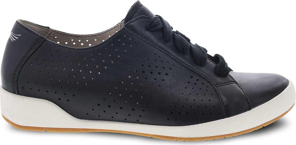 Women's Dansko Orli Sneaker, Black Nappa Leather, large, image 2