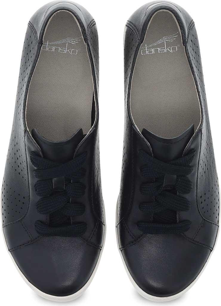 Women's Dansko Orli Sneaker, Black Nappa Leather, large, image 3