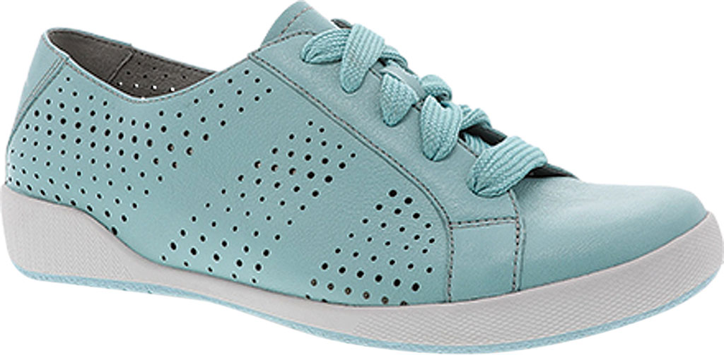 Women's Dansko Orli Sneaker, Aqua Nappa Leather, large, image 1