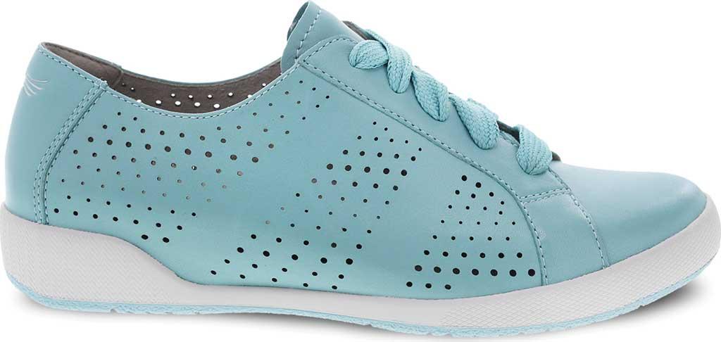 Women's Dansko Orli Sneaker, Aqua Nappa Leather, large, image 2