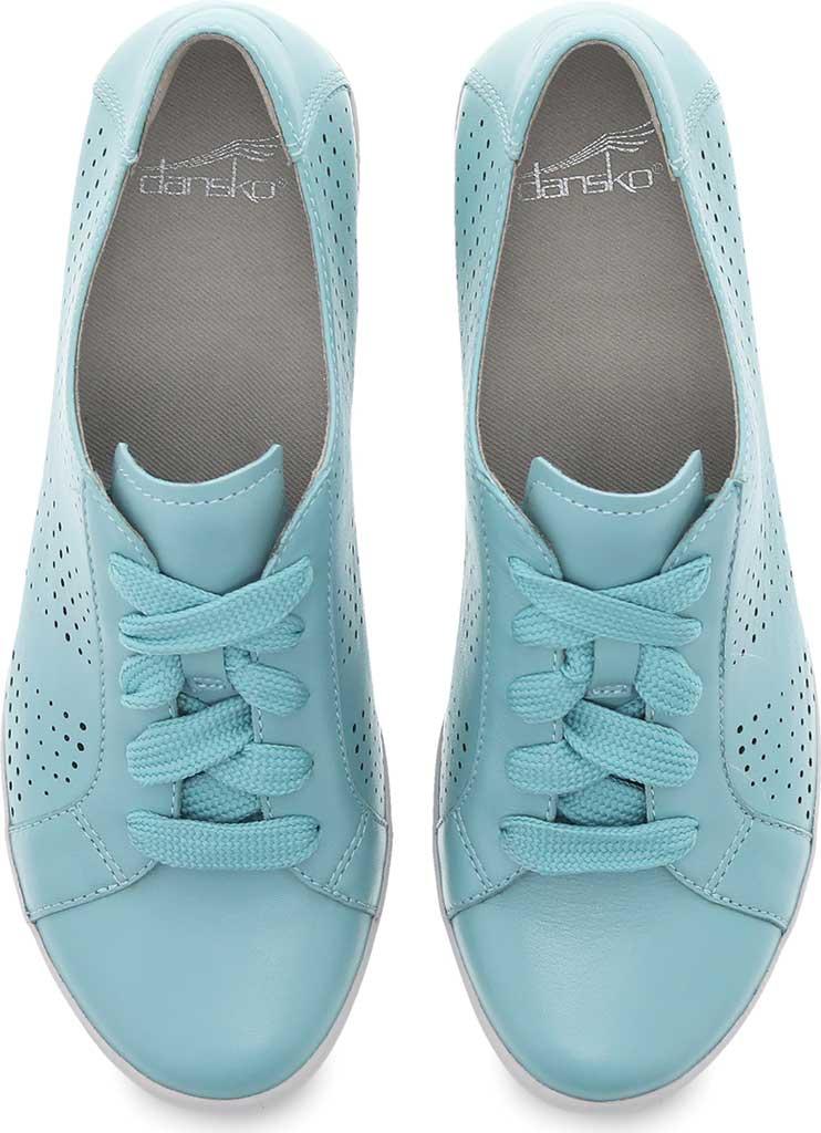 Women's Dansko Orli Sneaker, Aqua Nappa Leather, large, image 3