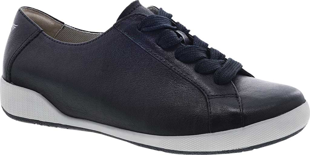 Women's Dansko Orli Sneaker, Black Textured Nubuck, large, image 1