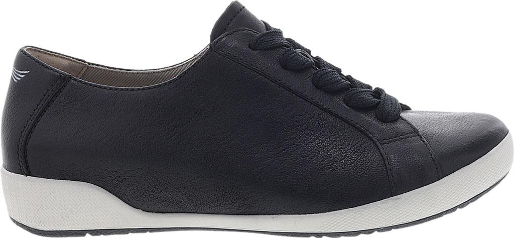 Women's Dansko Orli Sneaker, Black Textured Nubuck, large, image 2