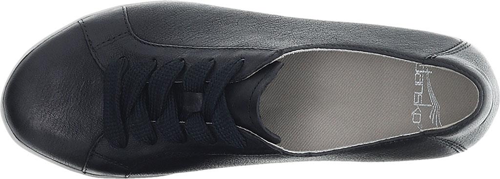Women's Dansko Orli Sneaker, Black Textured Nubuck, large, image 3