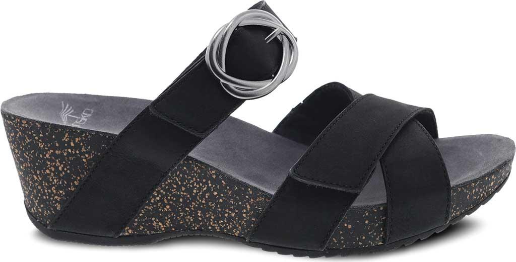 Women's Dansko Susie Slide, Black Milled Nubuck, large, image 2