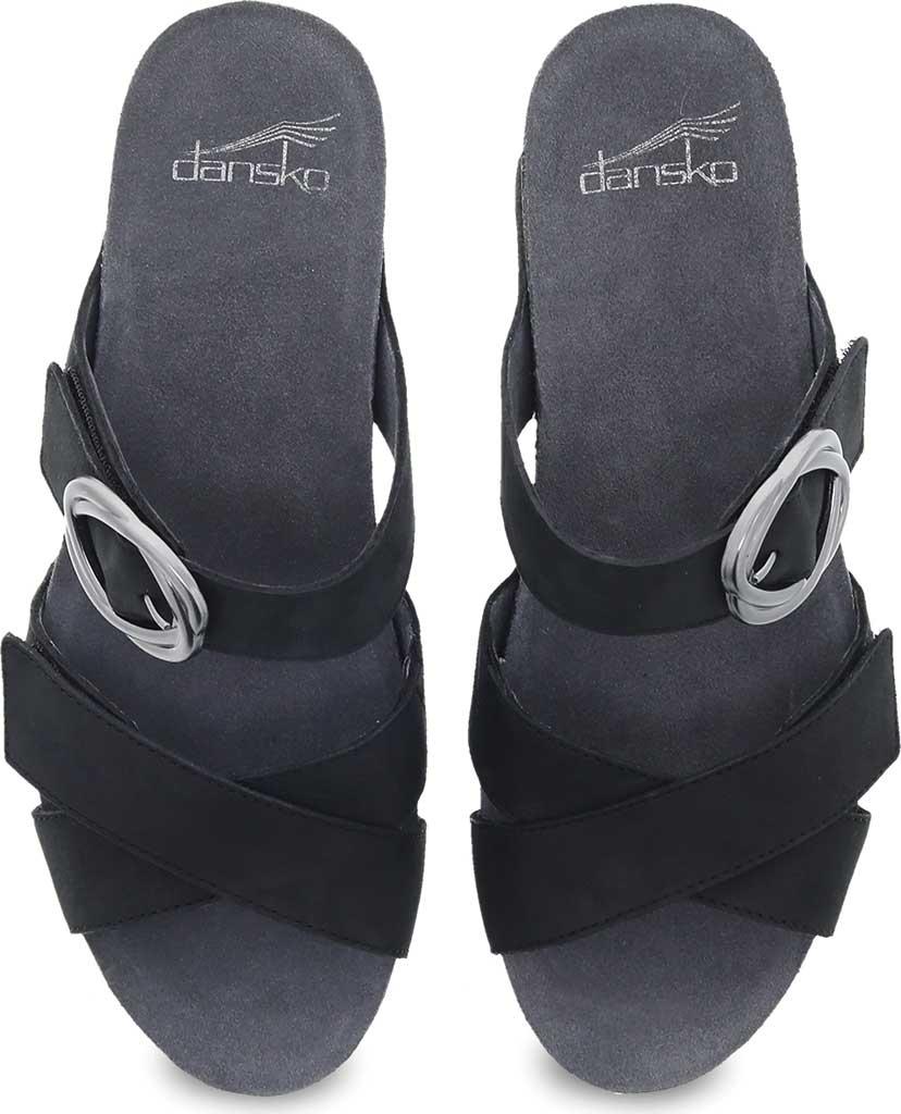 Women's Dansko Susie Slide, Black Milled Nubuck, large, image 3