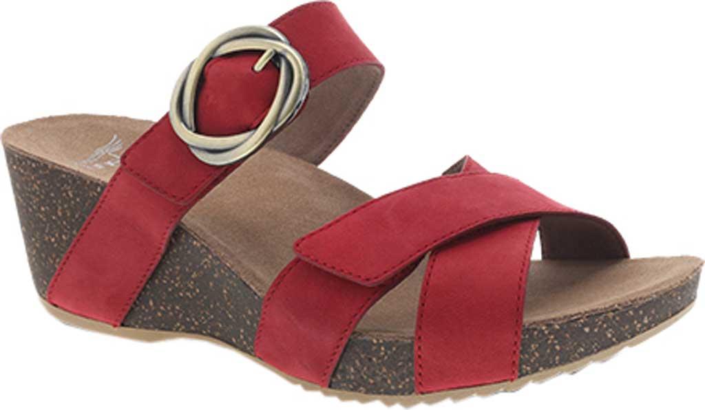 Women's Dansko Susie Slide, Red Milled Nubuck, large, image 1