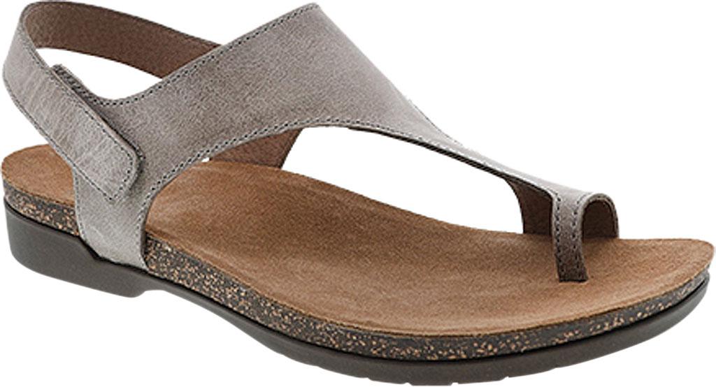 Women's Dansko Reece Toe Loop Sandal, Stone Waxy Burnished Leather, large, image 1