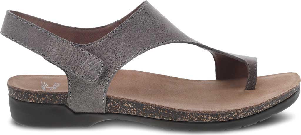 Women's Dansko Reece Toe Loop Sandal, Stone Waxy Burnished Leather, large, image 2