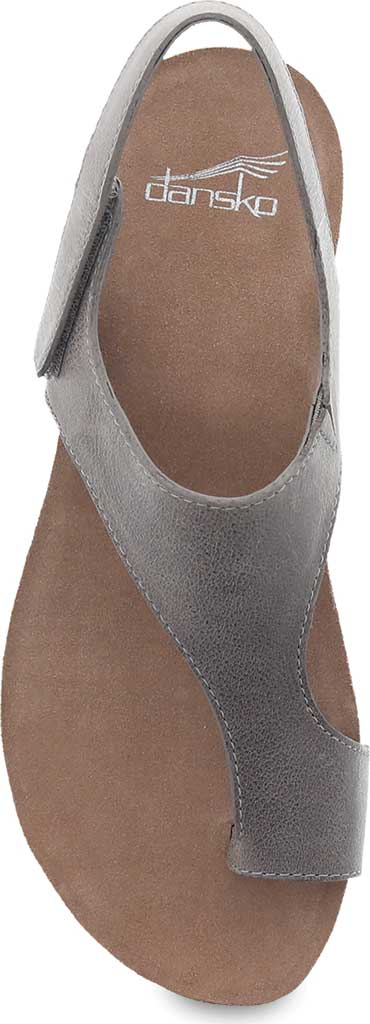 Women's Dansko Reece Toe Loop Sandal, Stone Waxy Burnished Leather, large, image 3