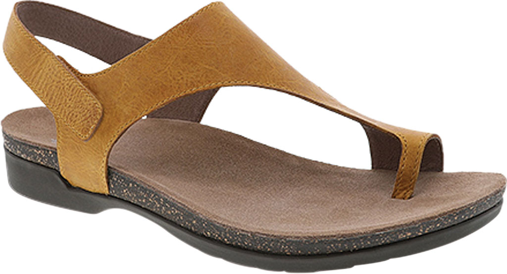 Women's Dansko Reece Toe Loop Sandal, Mango Waxy Burnished Leather, large, image 1