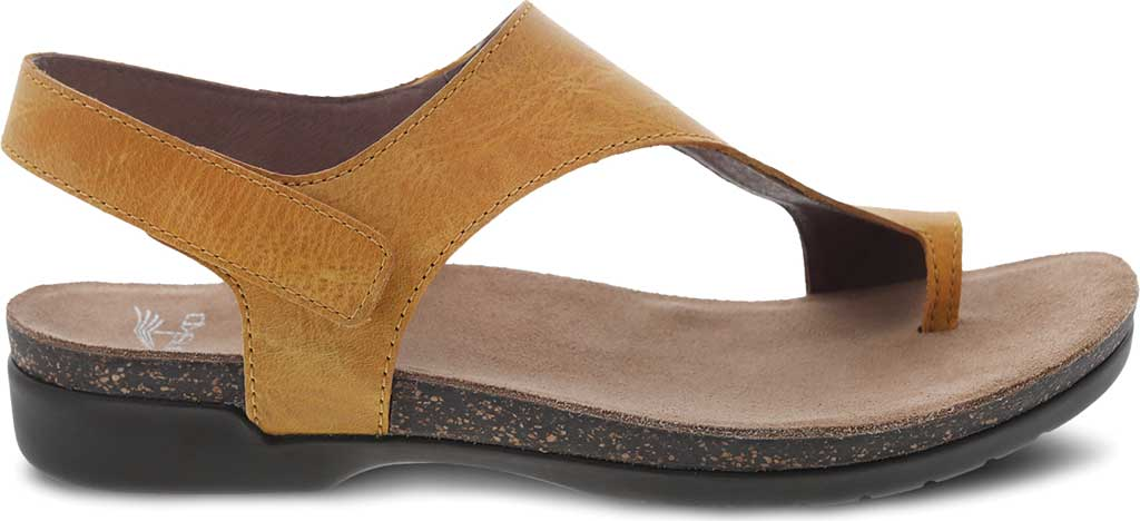 Women's Dansko Reece Toe Loop Sandal, Mango Waxy Burnished Leather, large, image 2