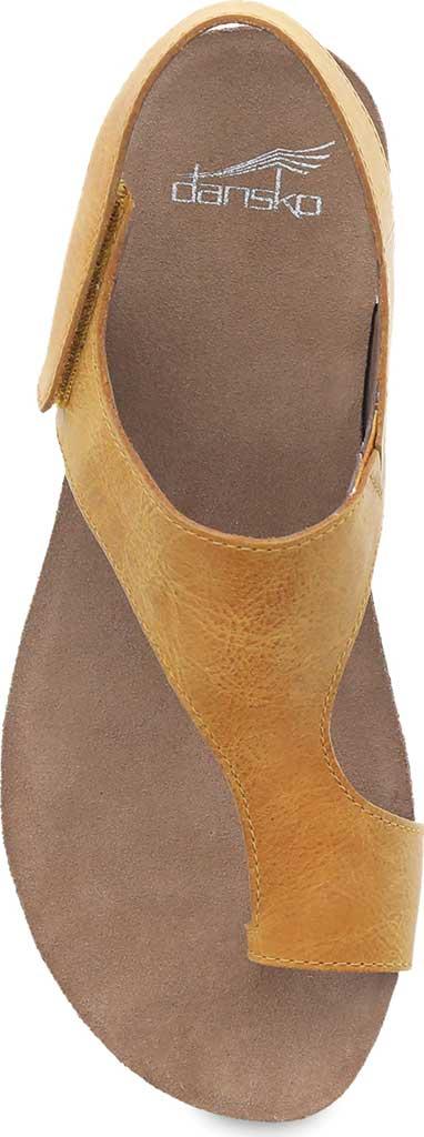Women's Dansko Reece Toe Loop Sandal, Mango Waxy Burnished Leather, large, image 3