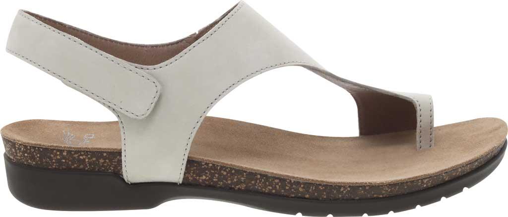 Women's Dansko Reece Toe Loop Sandal, Ivory Milled Nubuck, large, image 2