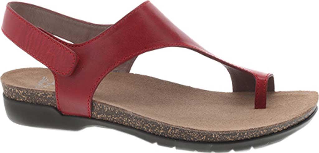 Women's Dansko Reece Toe Loop Sandal, Red Waxy Burnished, large, image 1