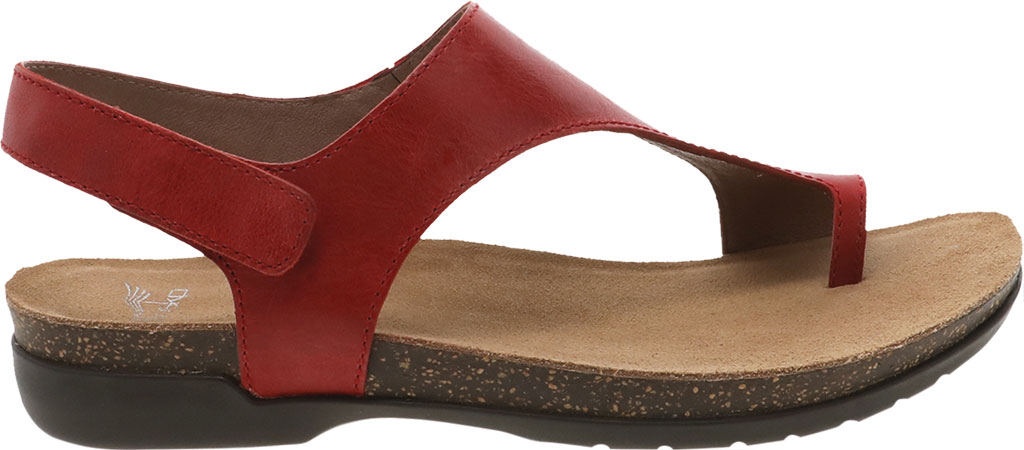 Women's Dansko Reece Toe Loop Sandal, Red Waxy Burnished, large, image 2