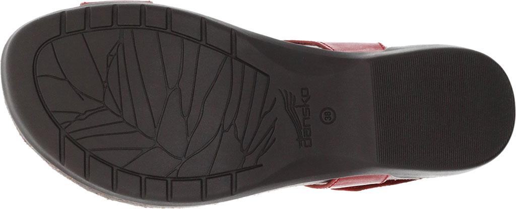 Women's Dansko Reece Toe Loop Sandal, Red Waxy Burnished, large, image 4