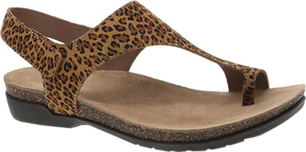 Women's Dansko Reece Toe Loop Sandal, Leopard Suede, large, image 1