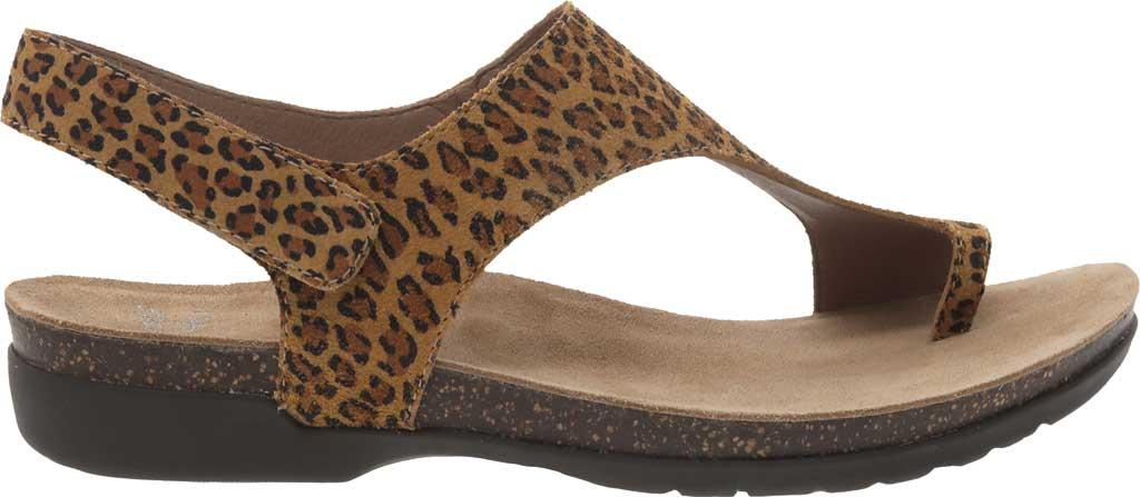Women's Dansko Reece Toe Loop Sandal, Leopard Suede, large, image 2