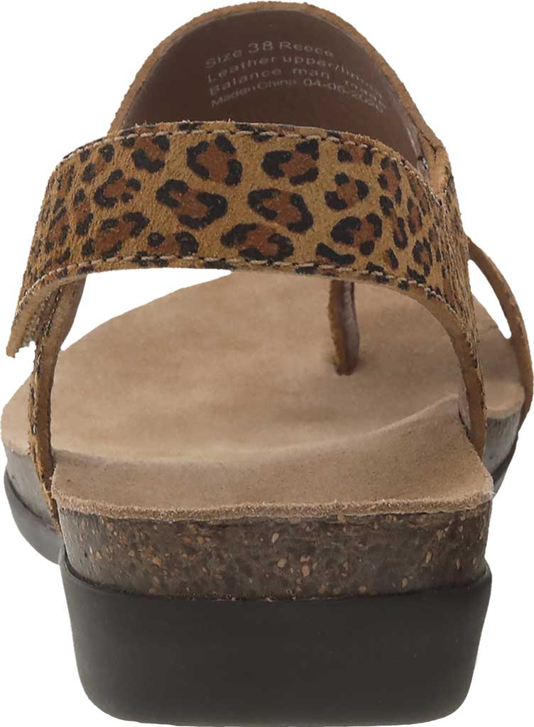 Women's Dansko Reece Toe Loop Sandal, Leopard Suede, large, image 3