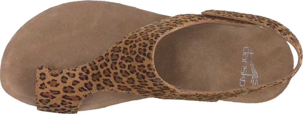 Women's Dansko Reece Toe Loop Sandal, Leopard Suede, large, image 4