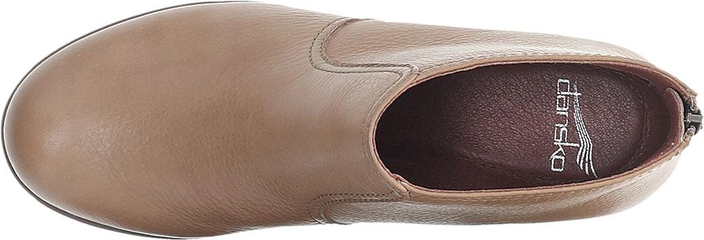 Women's Dansko Becki Ankle Bootie, Taupe Waterproof Tumbled, large, image 3
