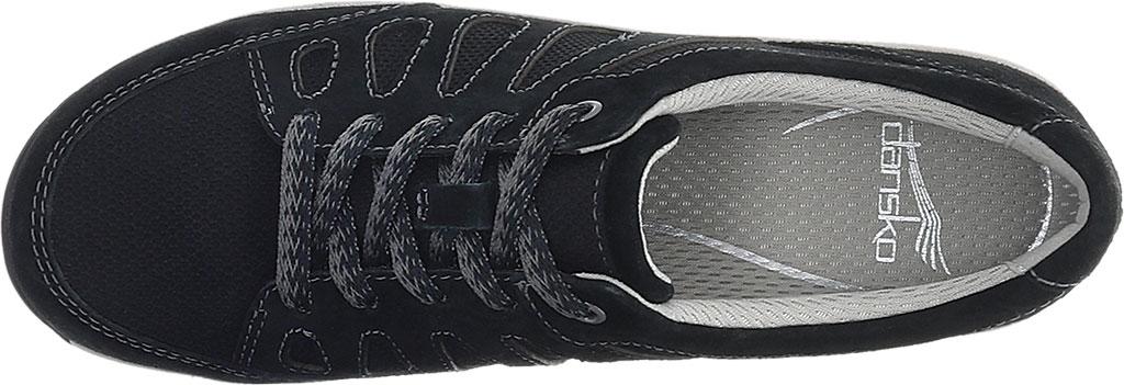 Women's Dansko Heather Sneaker, Black Suede, large, image 3