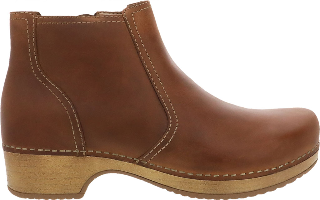 Women's Dansko Barbara Ankle Bootie, Tan Oiled Pull Up Leather, large, image 2