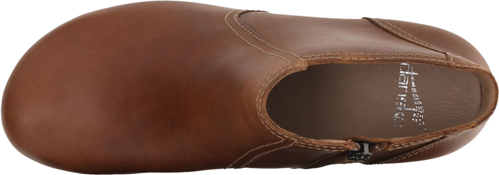 Women's Dansko Barbara Ankle Bootie, Tan Oiled Pull Up Leather, large, image 3