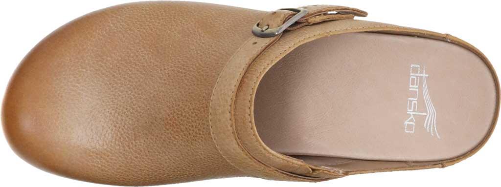 Women's Dansko Berry Mule, Tan Milled Burnished Leather, large, image 4