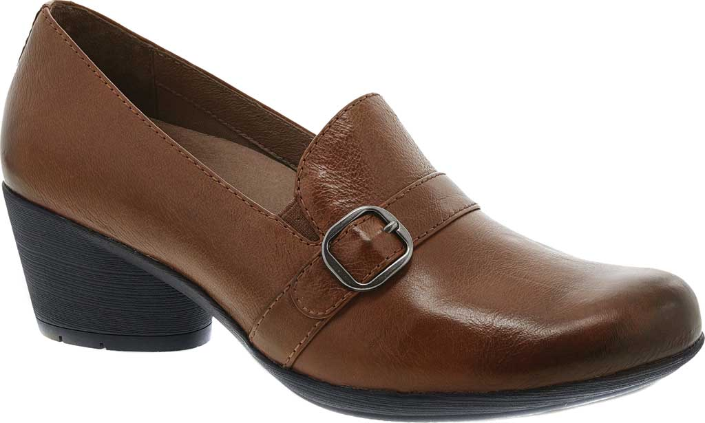 Women's Dansko Rosalie Slip-On, Chestnut Burnished Calf, large, image 1