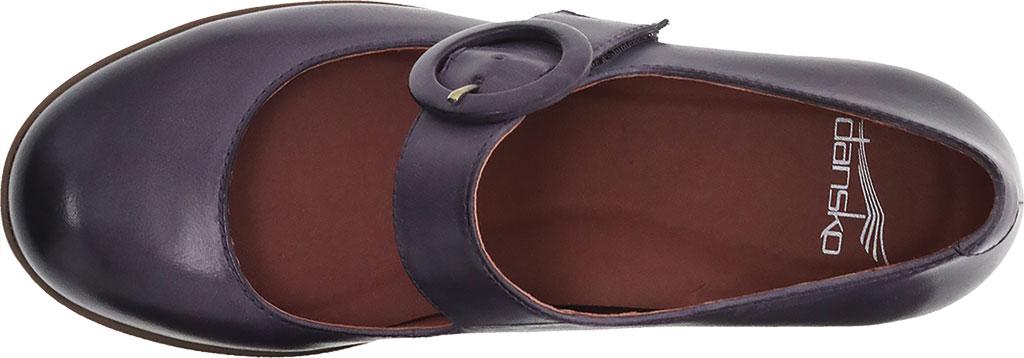 Women's Dansko Brandy Mary Jane, Plum Waterproof Burnished Leather, large, image 3