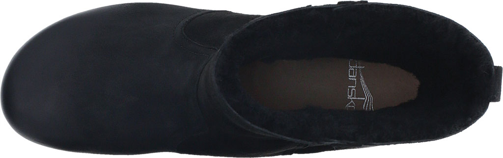 Women's Dansko Bettie Ankle Bootie, Black Burnished Nubuck, large, image 4