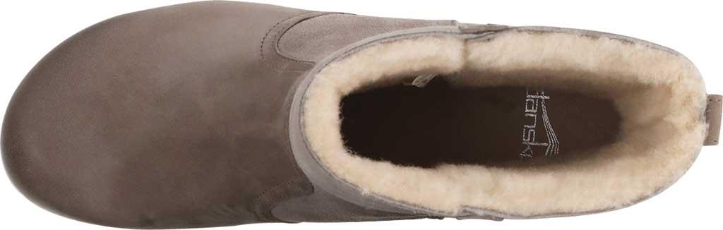 Women's Dansko Bettie Ankle Bootie, Taupe Burnished Nubuck, large, image 3