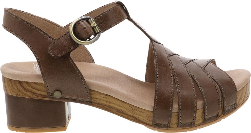 Women's Dansko Mara T Strap Sandal, Taupe Burnished Calf, large, image 2