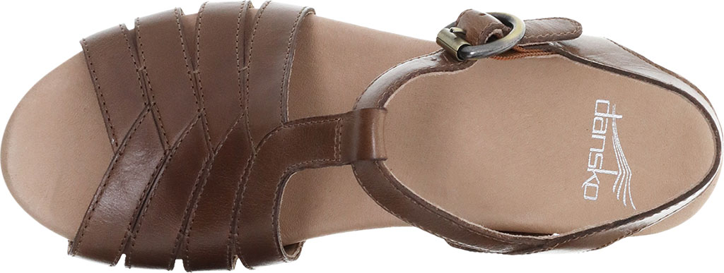 Women's Dansko Mara T Strap Sandal, Taupe Burnished Calf, large, image 3