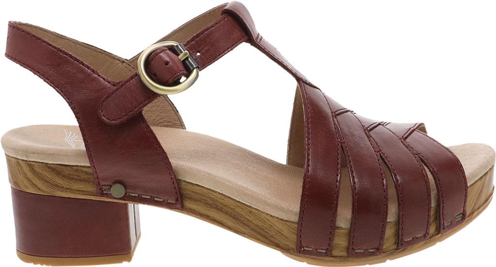 Women's Dansko Mara T Strap Sandal, Mahogany Burnished Calf, large, image 2