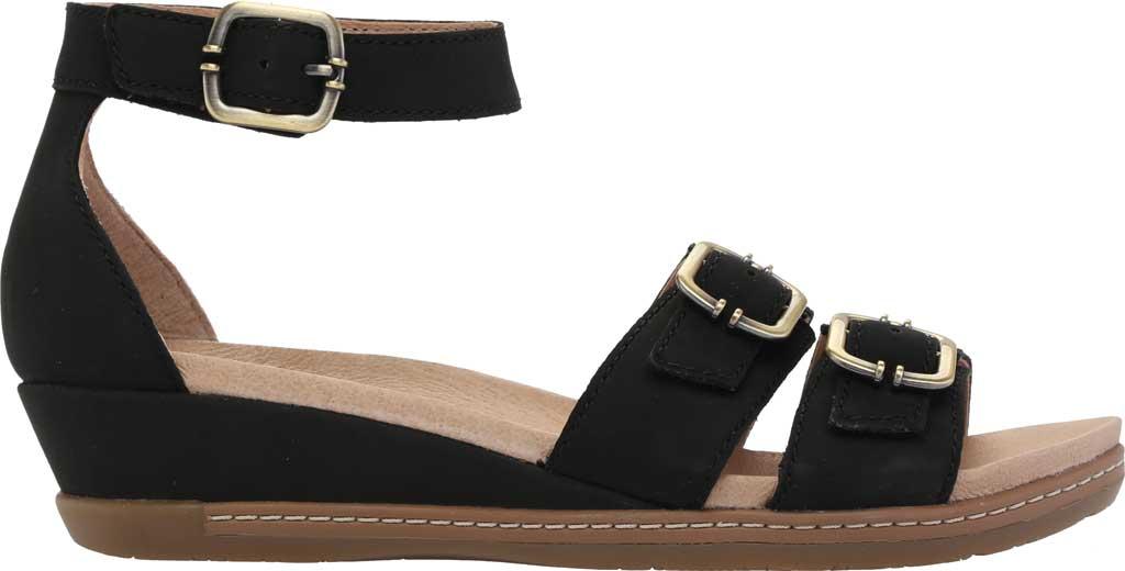 Women's Dansko Astrid Ankle Strap Sandal, Black Milled Nubuck, large, image 2