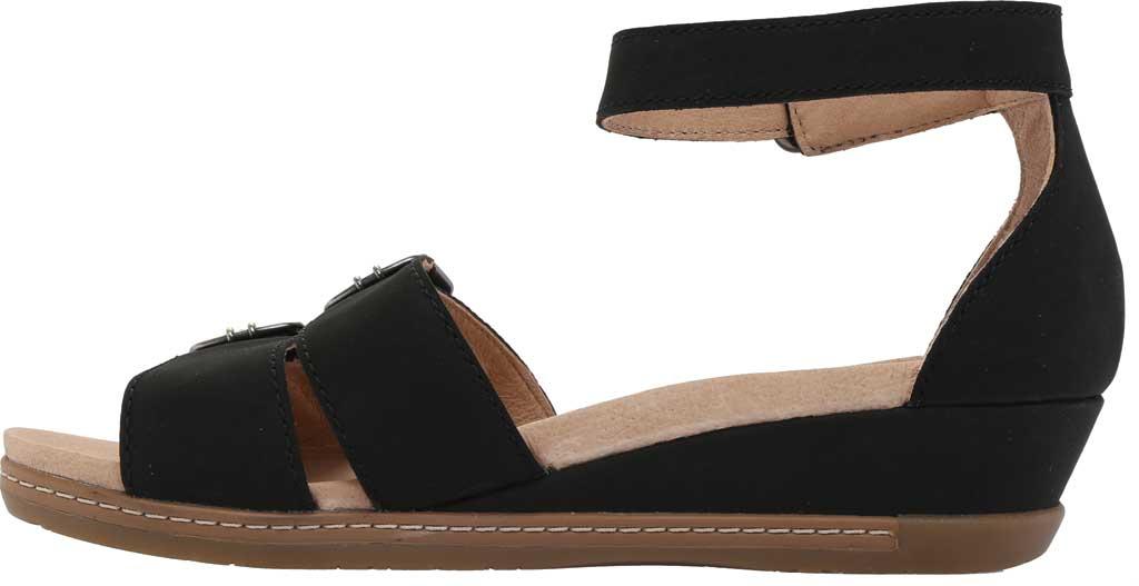 Women's Dansko Astrid Ankle Strap Sandal, Black Milled Nubuck, large, image 3