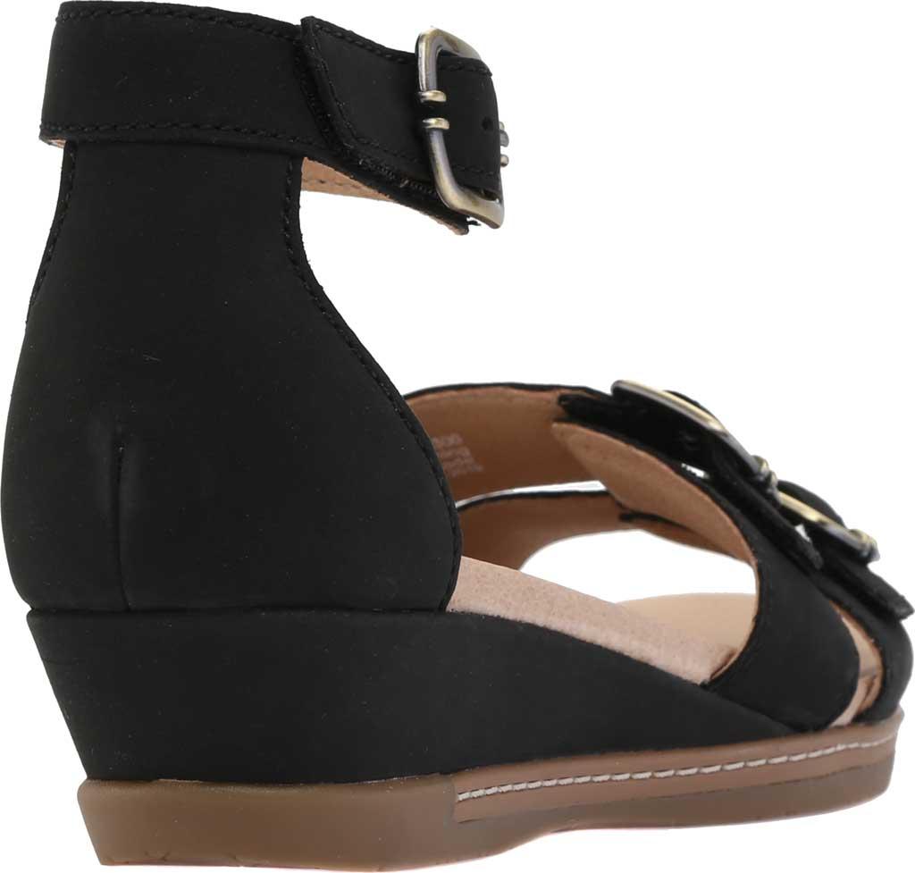 Women's Dansko Astrid Ankle Strap Sandal, Black Milled Nubuck, large, image 4
