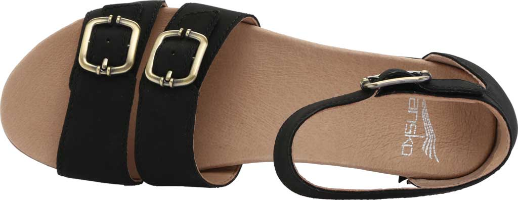 Women's Dansko Astrid Ankle Strap Sandal, Black Milled Nubuck, large, image 5