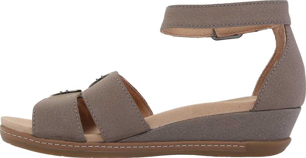 Women's Dansko Astrid Ankle Strap Sandal, Stone Textured Nubuck, large, image 3