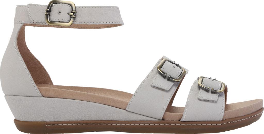 Women's Dansko Astrid Ankle Strap Sandal, Ivory Textured Nubuck, large, image 2