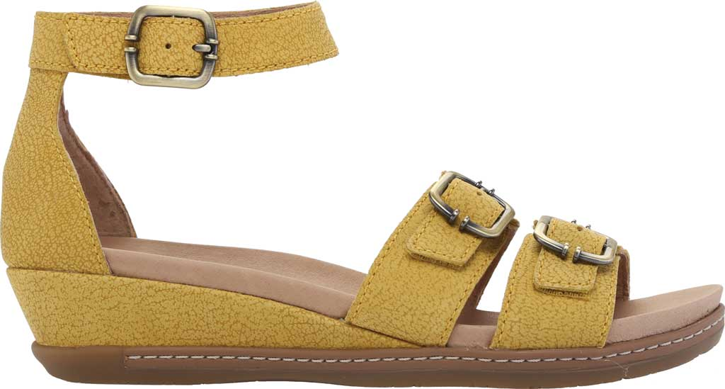 Women's Dansko Astrid Ankle Strap Sandal, Yellow Textured Nubuck, large, image 2